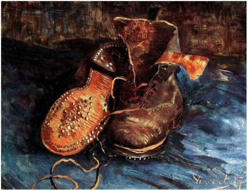 Vincent van Gogh-Un par de zapatos